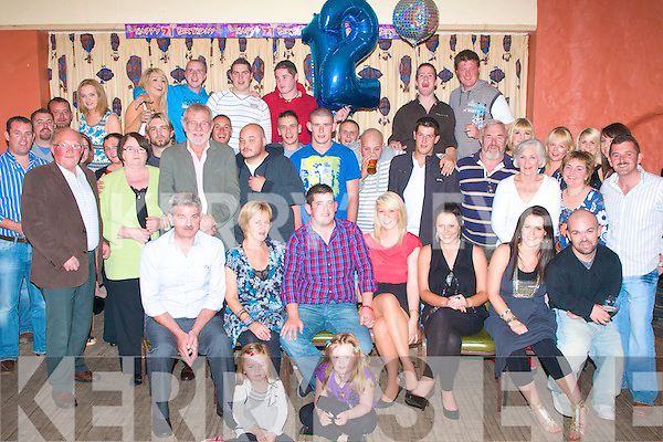 21ST BASH: Ian O'Sullivan, Ballyheigue (seated centre) celebrated his 21st birthday last Friday night in the White Sand's Hotel, Ballyheigue with his parents, Gerald & Louise, brothers Jerry, Alan & Barry and sisters Louise & Laura and many friend's and family.