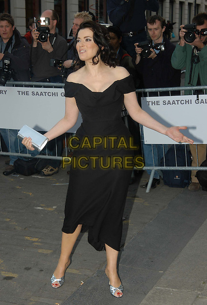 NIGELLA LAWSON.Launch of the Saatchi Gallery's new home at County Hall.www.capitalpictures.com.sales@capitalpictures.com.©Capital Pictures