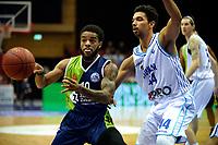 GRONINGEN - Basketbal, Donar - ZZ Leiden, Supersup, seizoen 2018-2019, 06-10-2018,  Leiden speler Maurice Watson Jr met Donar speler Arvin Slagter