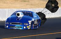 Jul. 25, 2014; Sonoma, CA, USA; NHRA pro stock driver Tommy Lee during qualifying for the Sonoma Nationals at Sonoma Raceway. Mandatory Credit: Mark J. Rebilas-