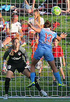 Boyds, MD - Saturday July 09, 2016: Kelsey Wys, Amanda Da Costa during a regular season National Women's Soccer League (NWSL) match between the Washington Spirit and the Chicago Red Stars at Maureen Hendricks Field, Maryland SoccerPlex.