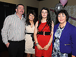 Tara Dillon celebrating her 21st birthday in the Star and Crescent with parents Kevin and Eileen and sister Aoife. Photo: Colin Bell/pressphotos.ie