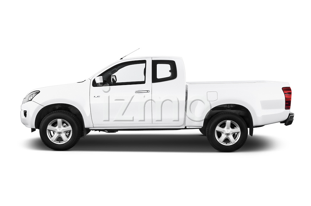 Car Driver side profile view of a 2015 Isuzu D-Max L+ 4 Door Pickup 2WD Side View