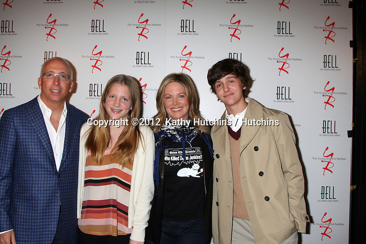 LOS ANGELES - MAR 16:  Bill Bell, Jr; Sabrina Bell, Maria Arena Bell, Liam Bell arrives at the Young & Restless 39th Anniversary Party hosted by the Bell Family at the Palihouse on March 16, 2012 in West Hollywood, CA