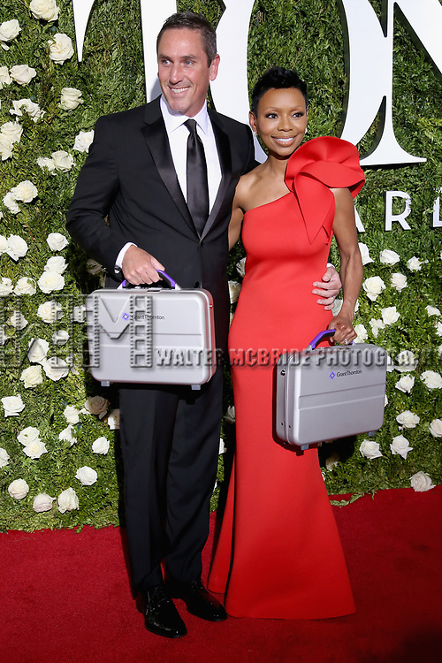 NEW YORK, NY - JUNE 11:  Sean Denham and Wendy Morton-Huddleston of Grant Thonton attend the 71st Annual Tony Awards at Radio City Music Hall on June 11, 2017 in New York City.  (Photo by Walter McBride/WireImage)