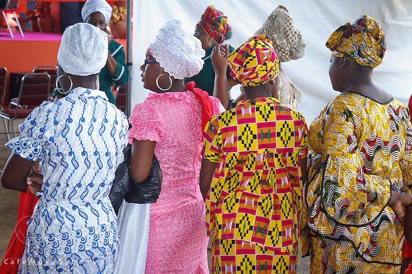 Shouter Baptist Day - Group of Trinidadian women in colourful African dress