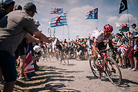 John Degenkolb (DEU/Trek-Segafredo) on pavé sector #4<br /> <br /> Stage 9: Arras Citadelle > Roubaix (154km)<br /> <br /> 105th Tour de France 2018<br /> ©kramon