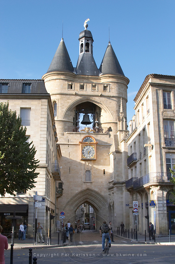 Porte de la Grosse Cloche. Bordeaux city, Aquitaine, Gironde, France
