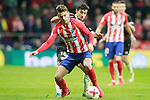 Atletico de Madrid's Lucas Hernandez (f) and Sevilla FC's Jesus Navas during Spanish Kings Cup, Quarter finals, first leg match. January 17,2018. (ALTERPHOTOS/Acero)