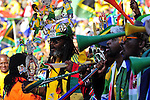 11 June 2010, South African football fans celebrate during the opening ceremony of the 2010 Fifia World Cup at Soccer City in Johannesburg South Africa. South Africa face Mexico in the opening game. Picture: Shayne Robinson