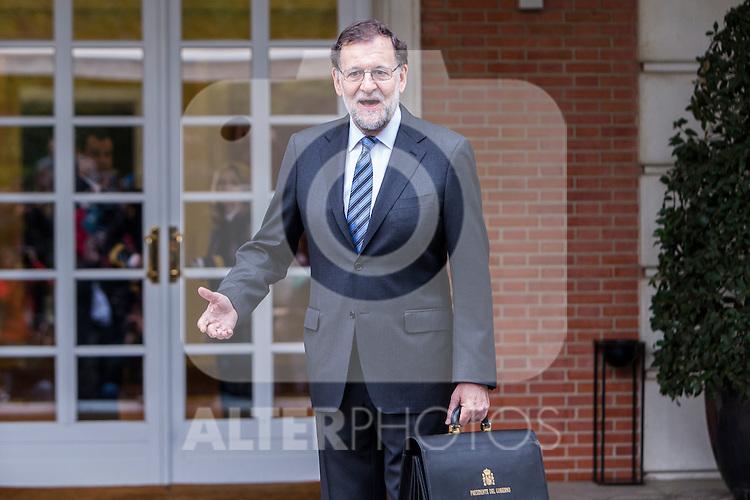 Spanish Prime Minister Mariano Rajoy during the prensentation of Rajoy's New Government at Moncloa Palace in  Madrid, Spain. November 04, 2016. (ALTERPHOTOS/Rodrigo Jimenez)