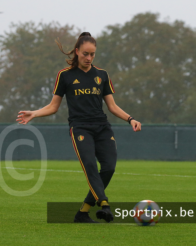 20191006 TUBIZE: Red Flames' Tessa Wullaert is pictured at the Open Training of Red Flames on Sunday 6th of October 2019, Tubize, Belgium  PHOTO SPORTPIX.BE | SEVIL OKTEM