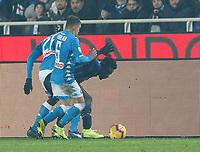 during the  italian serie a soccer match,Atalanta - SSC Napoli at  the Atleti azure d'italia   stadium in Bergamo Italy , December 03, 2018