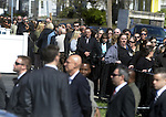 (Medford Ma 042113) A long line of mourners line up side street in Medford for the wake for Boston Marathon victim Krystle Campbell, Sunday in Medford.   (Jim Michaud Photo)
