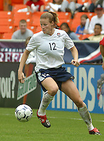 Cindy Parlow, USWNT vs Canada April 26, 2003.