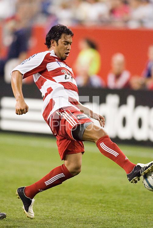 FC Dallas' Carlos Ruiz. The New England Revolution defeated FC Dallas 3 to 2 at Gillette Stadium, Foxbourgh, MA, on July 16, 2005.