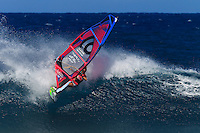 Tatiana Howard at the 6th and final stop of the 2012 American Windsurfing Tour (AWT), in Ho'okipa Beach Park (Maui, Hawaii, USA)
