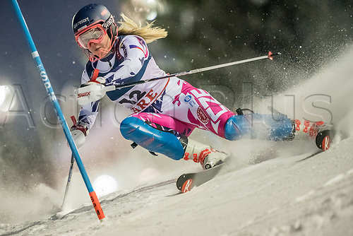 8th February 2019, Are, Sweden; Alpine skiing: Combination, ladies: Katerina Paulathova from the Czech Republic on the slalom course.