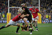 Hurricanes' Vaea Fifita in action during the New Zealand Lions Series - Hurricanes v British and Irish Lions at Westpac Stadium, Wellington, New Zealand on Tuesday 27 June 2017.<br /> Photo by Masanori Udagawa<br /> www.photowellington.photoshelter.com.