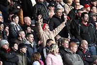 Barclays Premier League, Swansea City (White) V Norwich City (black) Liberty Stadium, Swansea, 08/12/12<br /> Pictured: Swansea's fans<br /> Picture by: Ben Wyeth / Athena <br /> Athena Picture Agency<br /> info@athena-pictures.com