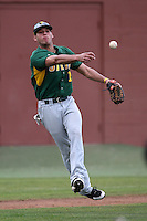 February 21, 2010:  Third Baseman William Cardona (12) of the Siena Saints during a game at Melching Field at Conrad Park in DeLand, FL.  Siena lost to Stetson by the score of 8-7.  Photo By Mike Janes/Four Seam Images