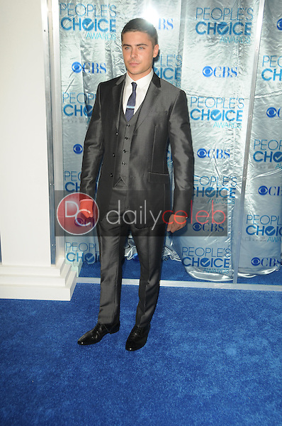 Zac Efron<br /> at the 2011 People's Choice Awards - Arrivals, Nokia Theatre, Los Angeles, CA. 01-05-11<br /> David Edwards/DailyCeleb.com 818-249-4998