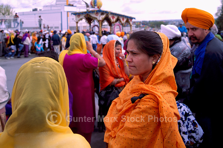 Sikhs watching East Indian Vaisakhi Parade, Vancouver, BC, British Columbia, Canada - Sikh New Year Celebration
