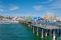 Santa Monica CA, Hotels, Pacific Park Pier, Beach