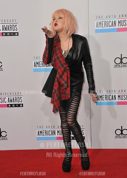 Cyndi Lauper at the 40th Anniversary American Music Awards at the Nokia Theatre LA Live..November 18, 2012  Los Angeles, CA.Picture: Paul Smith / Featureflash