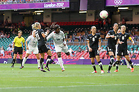 Anita ASANTE of Great Britain heads just wide - Great Britain Women vs New Zealand Women - Womens Olympic Football Tournament London 2012 Group E at the Millenium Stadium, Cardiff, Wales - 25/07/12 - MANDATORY CREDIT: Gavin Ellis/SHEKICKS/TGSPHOTO - Self billing applies where appropriate - 0845 094 6026 - contact@tgsphoto.co.uk - NO UNPAID USE.