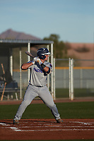Albert Espinosa (7) of Columbus High School in Key Biscayne, Florida during the Baseball Factory All-America Pre-Season Tournament, powered by Under Armour, on January 14, 2018 at Sloan Park Complex in Mesa, Arizona.  (Freek Bouw/Four Seam Images)
