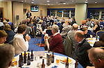 St Johnstone v Motherwell....31.10.14   SPFL<br /> Pete Loudon speaks during the Q&amp;A session with fans<br /> Picture by Graeme Hart.<br /> Copyright Perthshire Picture Agency<br /> Tel: 01738 623350  Mobile: 07990 594431