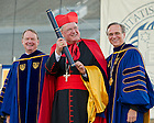 May 19, 2013; Timothy Cardinal Dolan is awarded an honorary doctorate at the 2013 Commencement ceremony in Notre Dame Stadium...Photo by Matt Cashore/University of Notre Dame