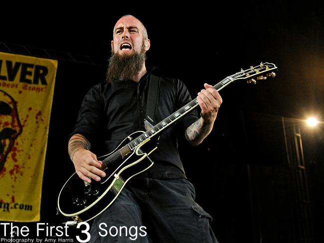 Björn Gelotte of In Flames performs during the 2011 Rockstar Energy Drink Mayhem Festival on July 20, 2011 at Riverbend Music Center in Cincinnati, Ohio.