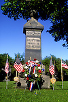 Flags surround War Memorial in Phillipsto, MA
