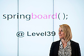 Springboard event at Level39, Canary Wharf.  Tech start-ups rehearse pitching to potential investors.