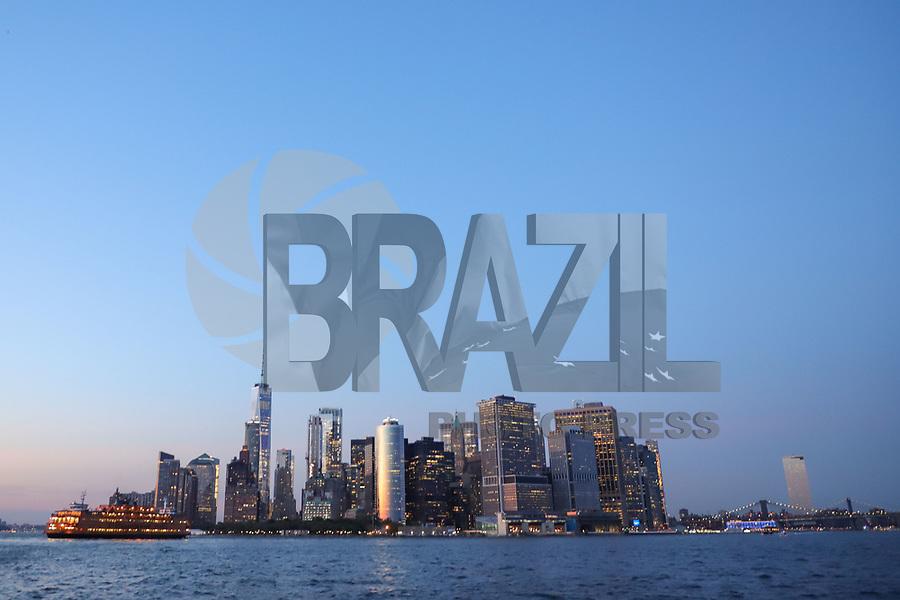 Nova York (EUA), 30/08/2019 - Turismo / Nova York - Vista da Ilha de Manhattan em Nova York nos Estados Unidos nesta sexta-feira, 30. (Foto: William Volcov/Brazil Photo Press)