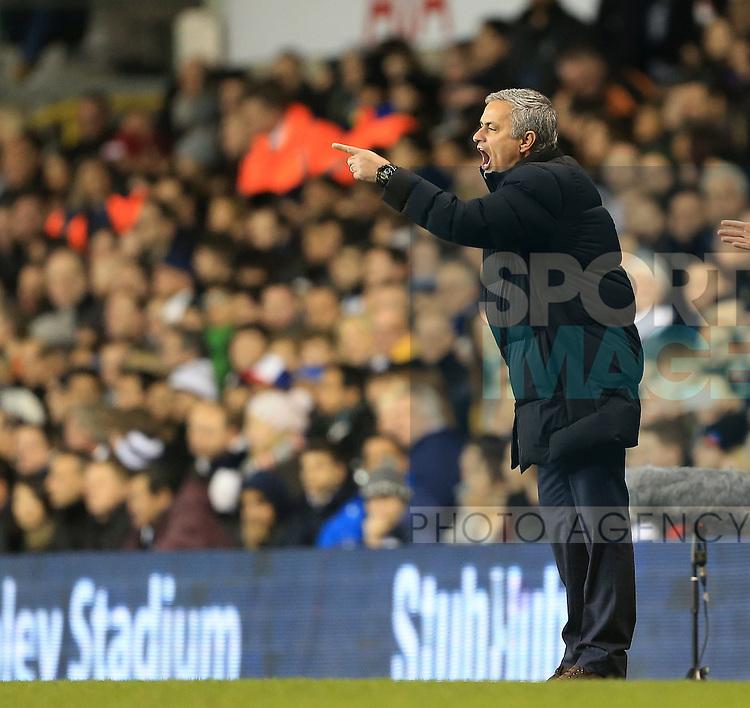 Chelsea's Jose Mourinho looks on dejected<br /> <br /> Barclays Premier League - Tottenham Hotspur vs Chelsea - White Hart Lane  - England - 1st January 2015 - Picture David Klein/Sportimage