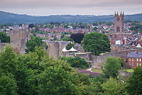 Ludlow viewed from Whitcliffe Common.