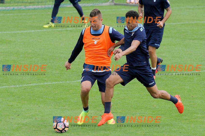 Sergej Milinkovic Savioc, Ravel Morrison<br /> 06-08-2016 Marienield<br /> Allenamento Lazio a Formello<br /> SS Lazio traning day<br /> @ Marco Rosi / Fotonotizia