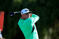Gary Woodland (USA) on the 5th tee during the 2nd round of the Waste Management Phoenix Open, TPC Scottsdale, Scottsdale, Arisona, USA. 01/02/2019.<br /> Picture Fran Caffrey / Golffile.ie<br /> <br /> All photo usage must carry mandatory copyright credit (© Golffile | Fran Caffrey)