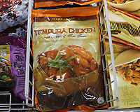 Jacksonville, FL August 1st: Trader Joe's declines to change the names of some of its products after an online petition denounced them as racist.  Trader Joe San Tempura Chicken.  Jacksonville, Florida on August 1st, 2020 Credit: Edward Kerns II/MediaPunch
