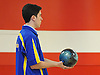 Brandon Wainwright of Kellenberg gets ready to bowl during a three-game CHSAA boys bowling match against St. Anthony's at AMF Garden City Lanes on Monday, Jan. 9, 2017. He bowed a 237 in his second game.