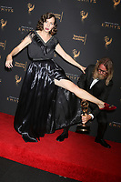 LOS ANGELES - SEP 9:  Kristen Schaal, Rich Rinaldi at the 2017 Creative Emmy Awards Press Room at the Microsoft Theater on September 9, 2017 in Los Angeles, CA
