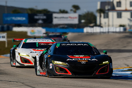 2017 IMSA WeatherTech SportsCar Championship<br /> Mobil 1 Twelve Hours of Sebring<br /> Sebring International Raceway, Sebring, FL USA<br /> Saturday 18 March 2017<br /> 86, Acura, Acura NSX, GTD, Oswaldo Negri Jr., Tom Dyer, Jeff Segal<br /> World Copyright: Jake Galstad/LAT Images<br /> ref: Digital Image lat-galstad-SIR-0317-14598