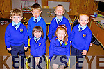 Junior infants from Kilmurray National School, Cordal, pictured here last Thursday on their first week of school, f l-r: Aoibhe Hickey and Orlaith O'Connor. b l-r: Pierce Flynn, Jude McCarthy, Sean Collins and Oilean Walsh.