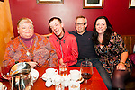 Birthday party:Justin Houlihan, Ballybunion celebrating his 31st birthday at McMunn's Bar & Restaurant, Ballybunion on Saturday night last. Noreen & Justin Houlihan & Niall & Denise Byrne.