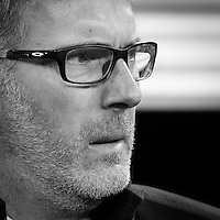 Paris Saint Germain's coach Laurent Blanc