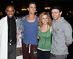 James Brown III, Richard Fleeshman, Caissie Levy & Bryce Pinkham.attending the Broadway Opening Nigh Gypsy Robe Ceremony for 'GHOST' honoring recepient James Brown III at the Lunt-Fontanne Theater on 4/23/2012 in New York City.