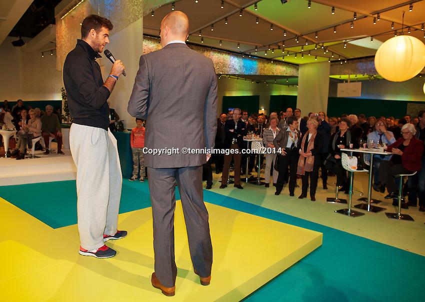 11-02-14, Netherlands,Rotterdam,Ahoy, ABNAMROWTT,Juan-Martin Del Potro<br /> Photo:Tennisimages/Henk Koster